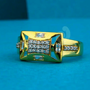 22ct Gold Cz Gents Ring