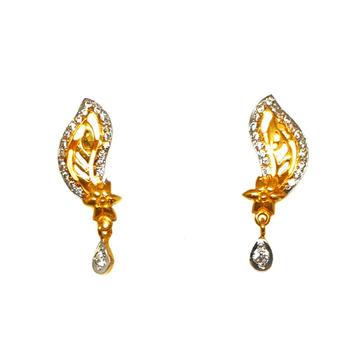 22K Gold Modern Earrings MGA - BTG0145