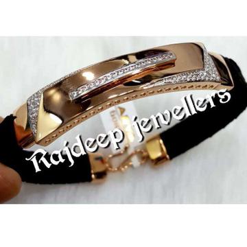 916 Rosegold Stylish Leather Bracelet
