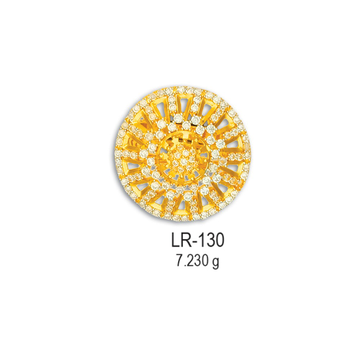CZ-Gold-Fancy-Round-Shape-Ladies-Ring-LR-130