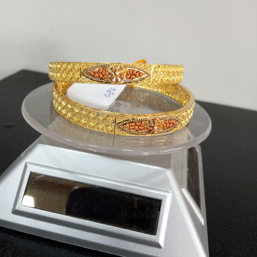 kalkati fancy unique Bangle by Aaj Gold Palace