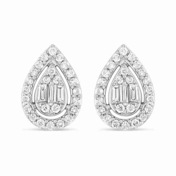 18KT Fancy Designer Diamond Wedding Earring by