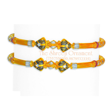 916 Gold Triangle Design Modhiya Copper Kadali - 0018