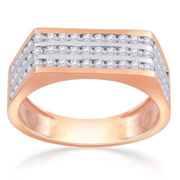 22kt gold and diamond studded heavy ring for men jkr002