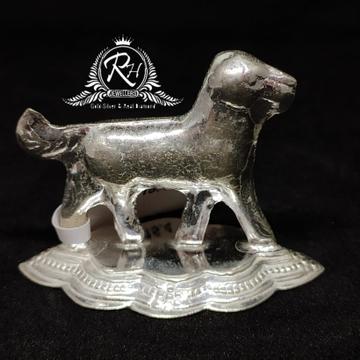 Silver dog charm statue  rh-mt961