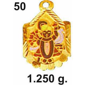 916 Gold Shrinathji Pendant