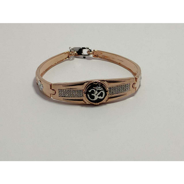 92.5 Sterling Silver Rose Gold Micro Om Bracelet Ms-3887