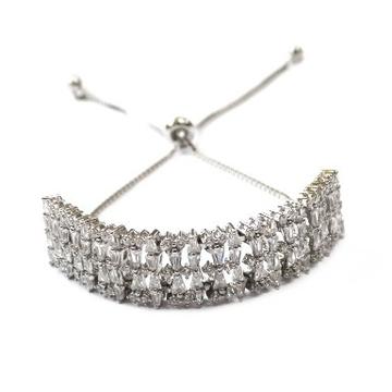925 Sterling Silver Fancy Bracelet MGA - BRS0418