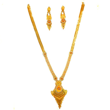 1 gram gold forming necklace set mga - gfn0014