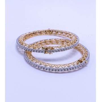 18k diamond round design bangle  agj-er-01