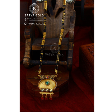 916 Gold Antique Mangalsutra AMG-021