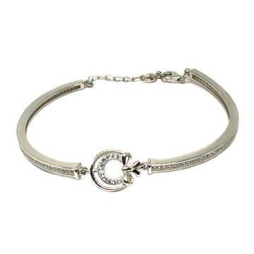 925 Sterling Silver Half Kada With Loose Bracelet MGA - BRS0351