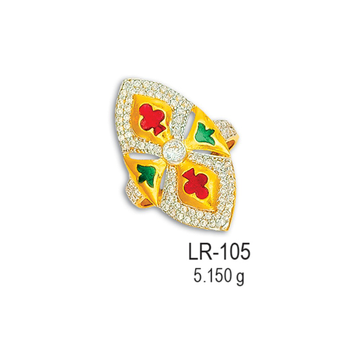 CZ-Gold-Ladies-Ring-LR-105