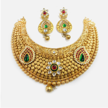 916 Gold Antique Bridal Choker Set RHJ-0013