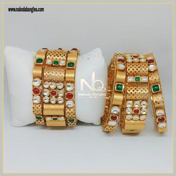916 Gold Patla Bangles NB-301
