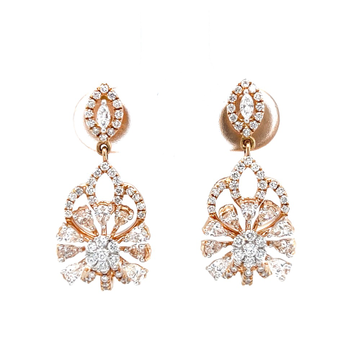 Latkan with flower using marquise pear and round d...