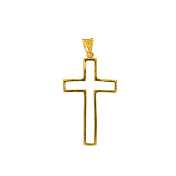 Cross religious gold pendant