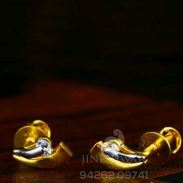 18kt fancy Gold Solitar Stone Tops STG -0105