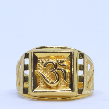 22KT / 916 Gold Plain OM Ring For Men GRG0121