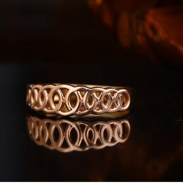 18KT Rose Gold Hallmark Plain Ring