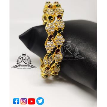 22 carat gold daimond ladies bangles RH-LB670