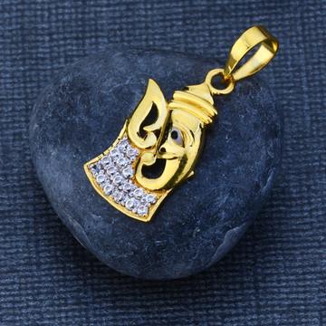 916 Gold Hallmark God Pendant GP98