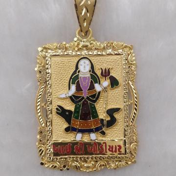 916 Gold Fancy Gent's Khodiyar Maa Pendant