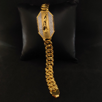 Men's 22k Jaguar Designer Gold Bracelet-11902