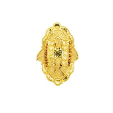 22 k  light weight yellow gold ladies ring RJ-LRG-002