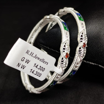 silver traditional baccha kada RH-BK618