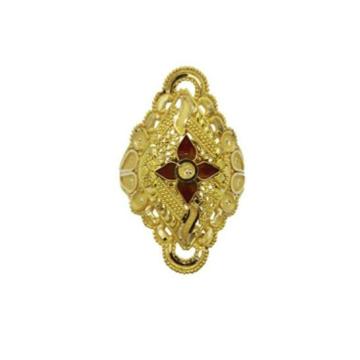 22 k light weight yellow gold ladies ring rj-lrg-007