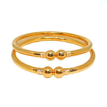 22K Gold Fancy Kadali Bangles MGA - GK0070