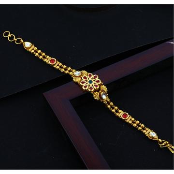 916 CZ gold Hallmark Light Weight Attractive Design Bracelet