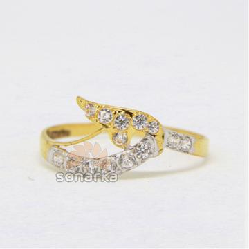 22ct Hallmarked Yellow Gold Casting CZ Diamond Rin... by