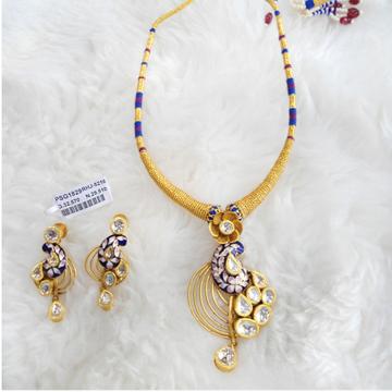 Gold Antique Jadtar Necklace Set RHJ 5216