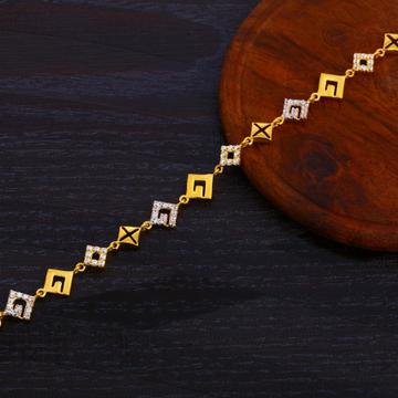 916 Gold Ladies CZ Exclusive Bracelet LB373