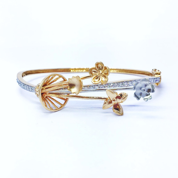 FANCY ROSE GOLD FLOWER KADA BRACELET