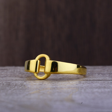 Ladies 22K Gold Round Design Ring -LPR69