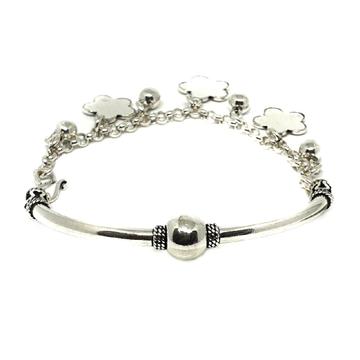 925 Sterling Silver Flower Pandadi Bracelet MGA - BRS0425