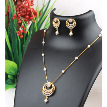 916 Gold CZ Fancy Necklace Set RJ-N02