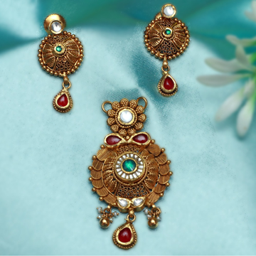 916 Gold Designer Pendant Set PJ-PS003