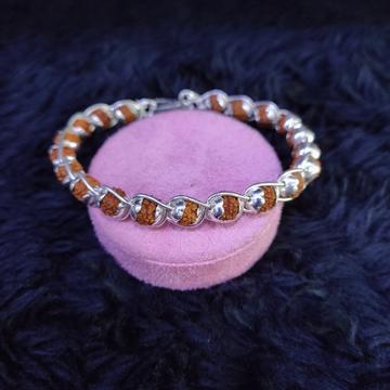 Silver dailyware rudraksh bracelet slu-443