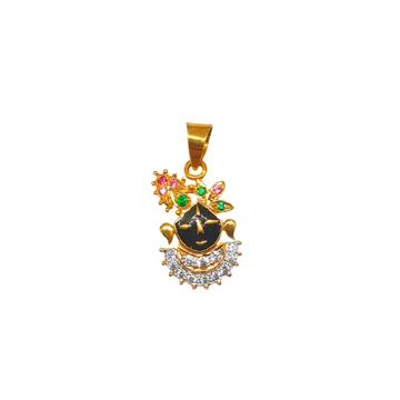 22K Gold Shree Nathji Pendant MGA - PDG0146