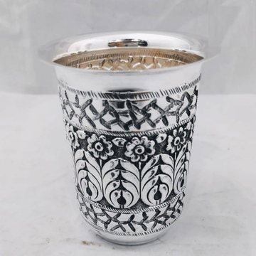 925 pure silver glass in Fine antique carvings pO-... by Puran Ornaments