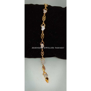 916 Gold Delicate Fancy Ladies Diamond Bracelet