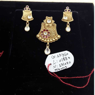 916 Antique  Fancy Pendant Set