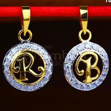 22KT Gold Letter  Chain Pendal RH-CP001