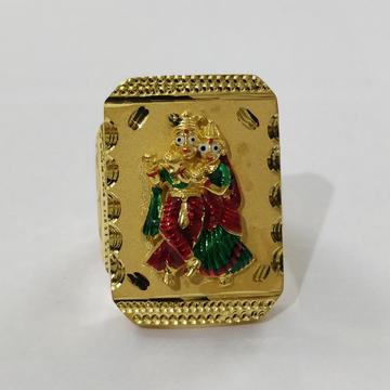 916 Gold Fancy Gent's Radha-krishnan Rings
