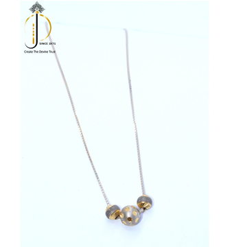 18KT rose gold 3 Movable bolls delicate chai for ladies CHG0141