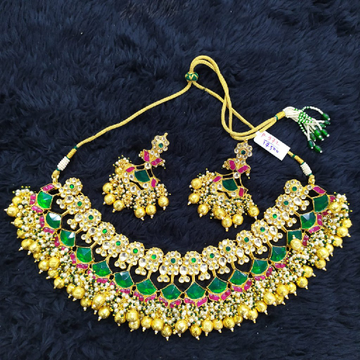 Designer kundan necklace#769
